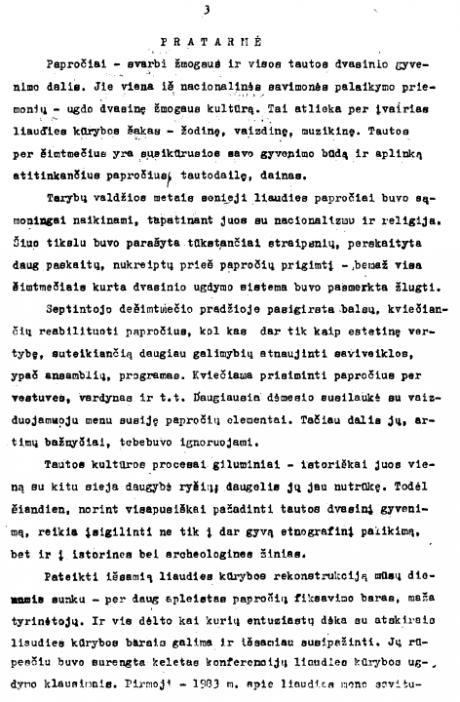 Lietuvių liaudies papročiai – Pratarmė 1