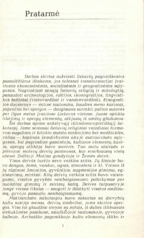 Pagonybė Lietuvoje-Pratarmė